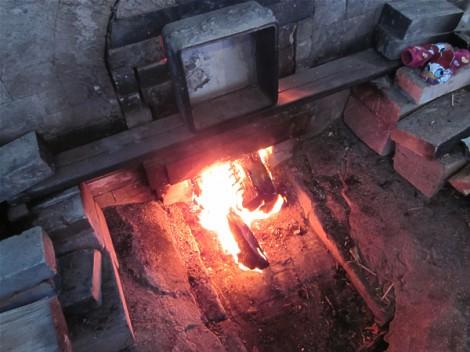 登り窯に火が入りました
