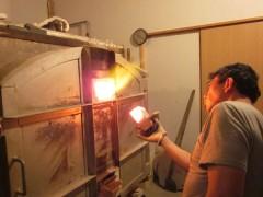 草來舎・名古屋展示会の窯焚き