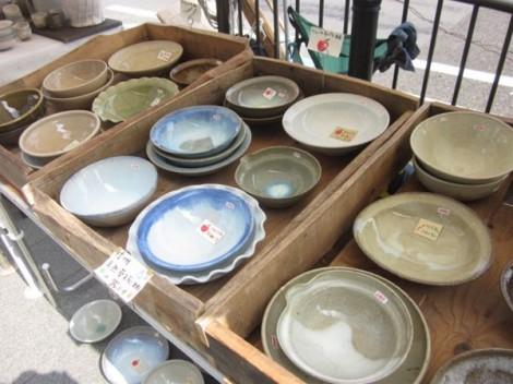 灰釉の鉢・五条坂陶器まつり