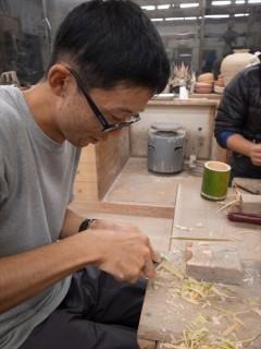 竹トンボを作る