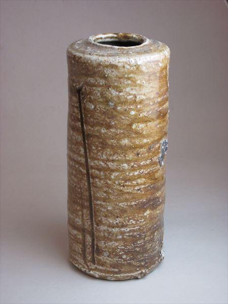 焼締 自然釉 花入れ 登り窯 草來舎