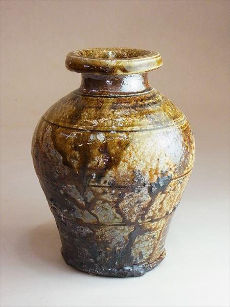 信楽 自然釉 登り窯 花入 花瓶