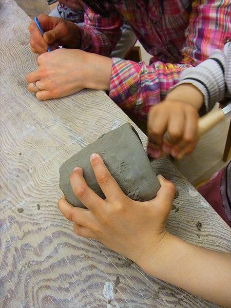 ものづくり 幼児のものづくり 保育園 陶芸 作陶