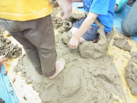 粘土 保育 保育園 遊び