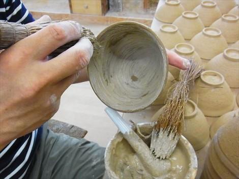 刷毛目 粉引 化粧土 技法 陶芸