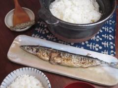 サンマ皿 炊飯器 炊飯土鍋