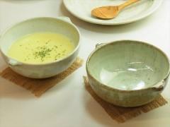 スープボウル 藁灰釉