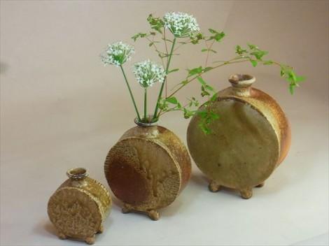 自然釉 花入れ 花瓶