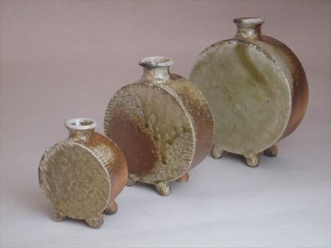 穴窯 花入れ 花瓶 花器 自然釉