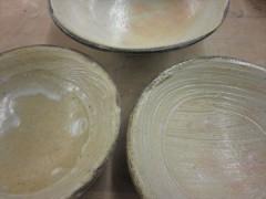 李朝 薪窯 灰釉 刷毛目 朝鮮陶
