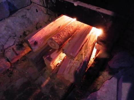 登り窯 草來舎 窯焚き