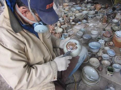 薪窯 窯出し 登り窯