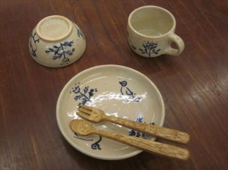 子ども用食器セット 草來舎 木のスプーン 木のフォーク
