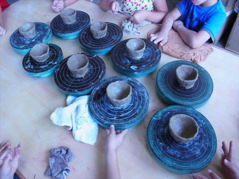 草來舎 保育園 幼児 陶芸教室 焼物教室 造形教室