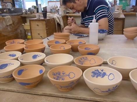 草來舎 窯焚き 展示会 即売会 スペース高輪 和食器 茶碗