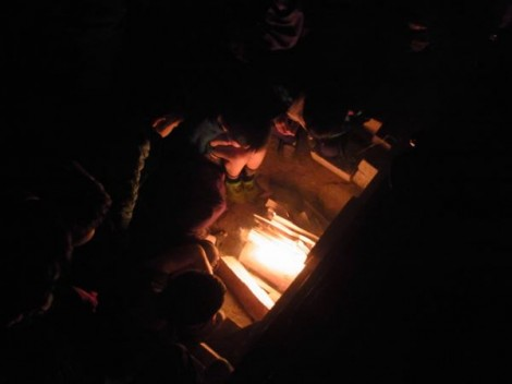 登り窯 窯焚き 薪窯 草來舎