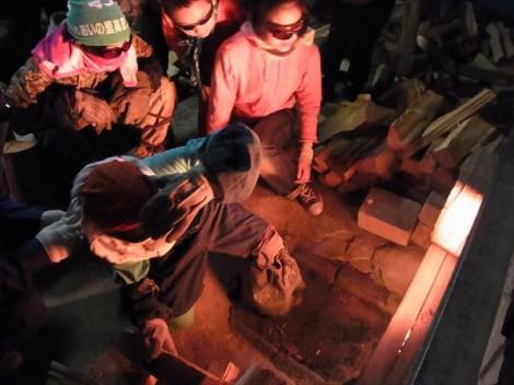 登り窯 窯焚き 草來舎 造形教室 自然体験 陶芸教室