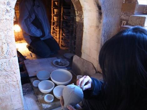 登り窯 窯詰め 草來舎