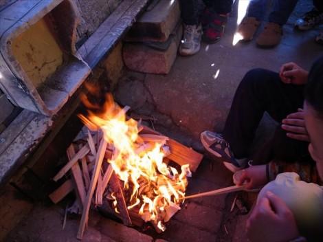 登り窯 窯焚き 造形教室 陶芸教室 草來舎