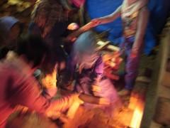 登り窯 窯焚き 草來舎 陶芸教室 造形教育 美術教育 里山 自然釉 灰釉