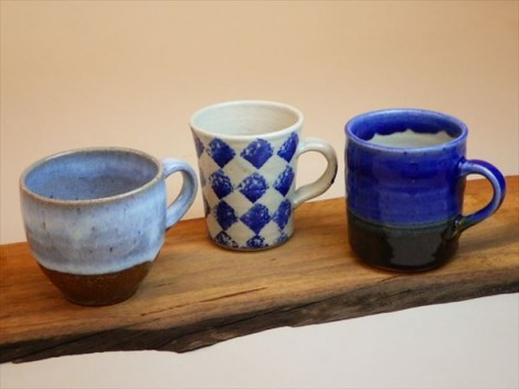 灰釉 自然釉 登り窯 ギャラリー安里 草來舎 展示会 和食器 マグ コーヒーカップ