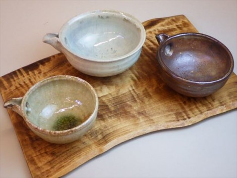 灰釉 自然釉 登り窯 ギャラリー安里 草來舎 展示会 和食器 酒器 片口