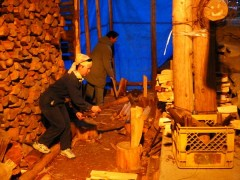 登り窯 薪窯 窯焚き 草來舎 和食器 灰釉 自然釉