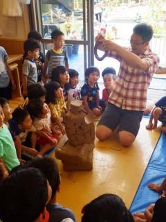 陶芸教室 造形教室 美術教育 造形教育 保育園 幼稚園 粘土遊び 草來舎