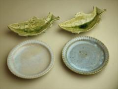 草來舎 展示会 和食器 展示即売 会津若松 みゅーず 鉢 皿 灰釉 登り窯