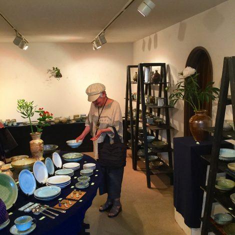 草來舎 和食器 作家もの 展示会 灰釉 焼締自然釉 登り窯 ギャラリー安里 覚王山