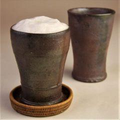 草來舎 和食器 ビアマグ 焼き締め 南蛮 登り窯 灰釉 酒器 盃 ぐい呑み 徳利 片口 信楽焼