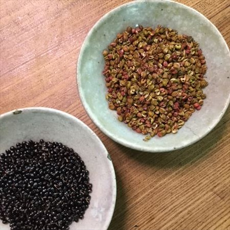 草來舎 里山暮らし 秋の食卓 山椒 和食器